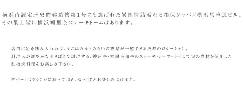 ステーキ・しゃぶしゃぶ・牛なべ 横浜瀬里奈